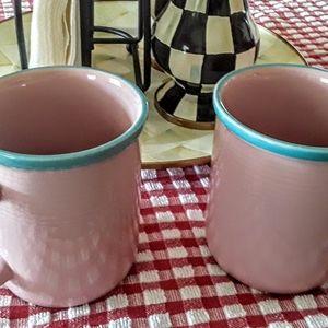 Ceramic Pink Rio Cups